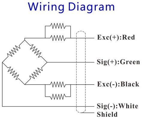 Load Cell Wiring Diagram by Load Sensor Load Cell Transducer