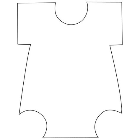 Onesie Template Templates Baby Onesie And Cut Outs On