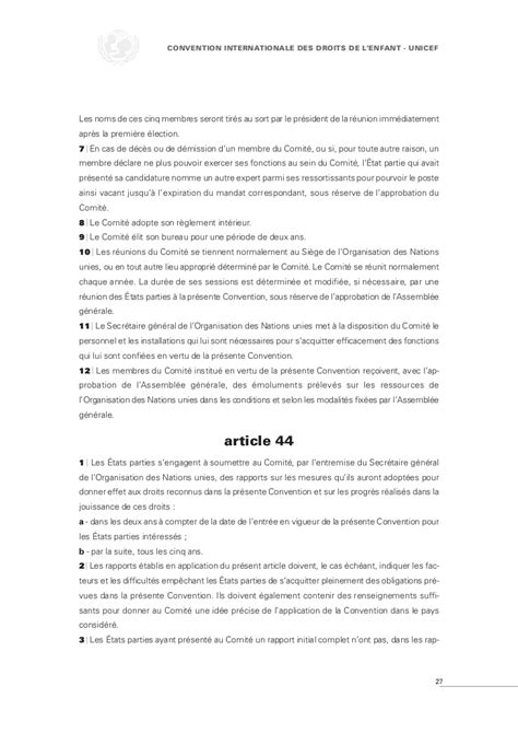 le si鑒e de l unicef convention internationale du droit de l 39 enfant unicef texte intégral