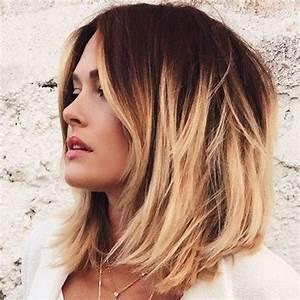 Coupe Cheveux Carré Mi Long : coupe de cheveux carre mi long flou coiffures populaires ~ Melissatoandfro.com Idées de Décoration