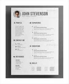 28 graphic designer resume template psd free simple