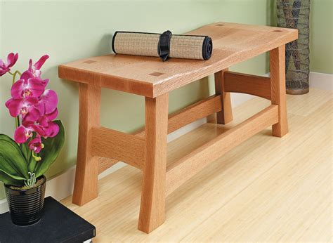 classic entry bench woodworking project woodsmith plans