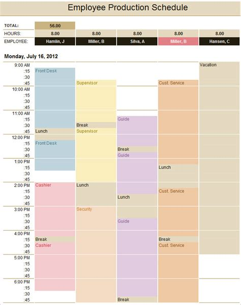 production schedule template production schedule template cyberuse