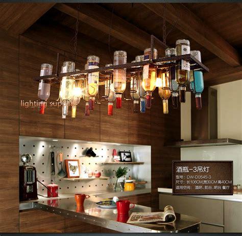 Lighting Led Wine Room by Loft Retro Hanging Wine Bottle Led Ceiling Iron Pendant