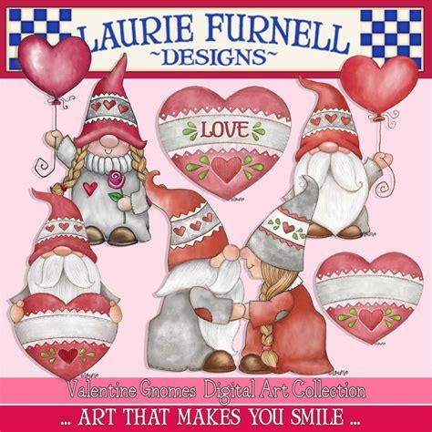 cute valentine gnomes clip art   valentines clip