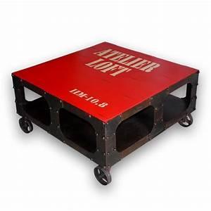 Table Basse Loft : table basse industrielle loft le bois chez vous ~ Teatrodelosmanantiales.com Idées de Décoration