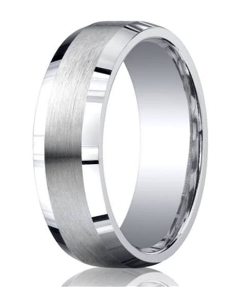 silver satin ring polished edges