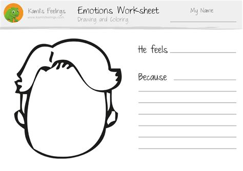 free coloring pages emotions worksheets for children