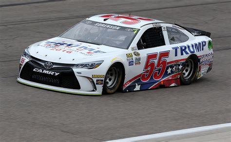 trump campaign   race car courtesy  nascar owners