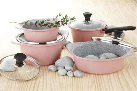 ceramic cookware marble korea safe pan stick non coated cook know oven kf microwave nonstick neoflam retro larger
