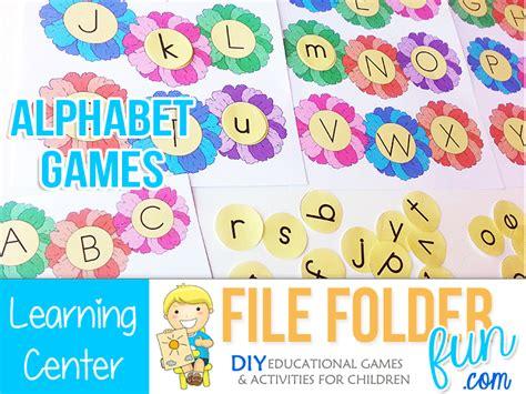 preschool alphabet game file folder kindergarten search engine at 985