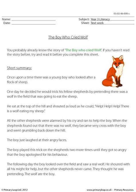 primaryleap co uk reading comprehension the boy who