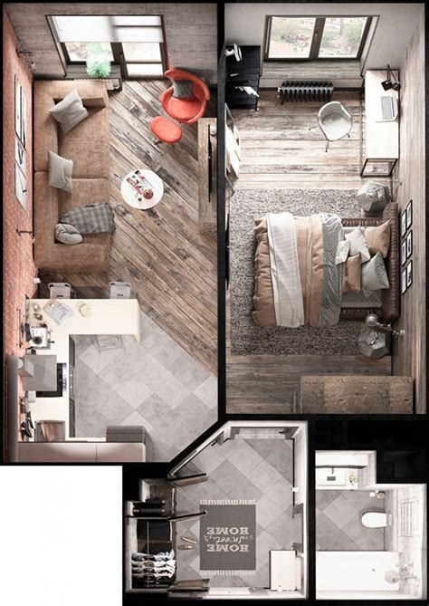 15 Smart Studio Apartment Floor Plans