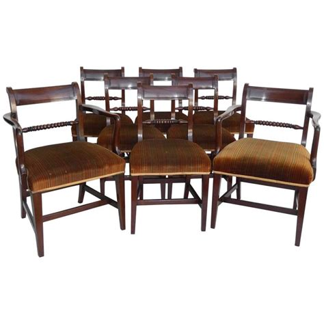 set eight george iii mahogany dining chairs for sale at