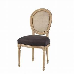 Chaise Médaillon Maison Du Monde : chaise m daillon cann e en lin noir louischaise m daillon noir ~ Teatrodelosmanantiales.com Idées de Décoration