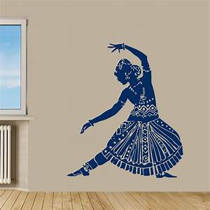 43939x63939 indian woman wall decals belly dance by With indian wall decor