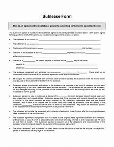 40 professional sublease agreement templates forms for Subletting contract template