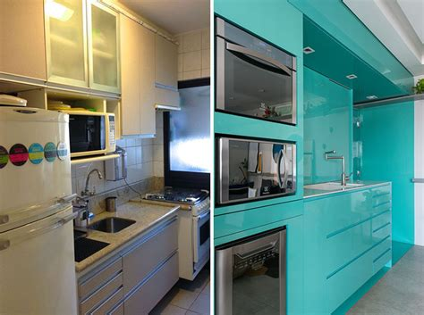 bright blue kitchen   small apartment contemporist
