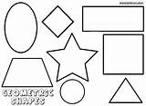 Shapes Coloring Pages Geometric Print sketch template