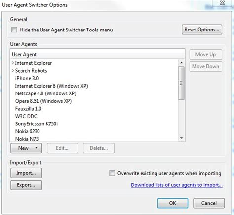 agent user mobile switch options browsers devices various test web website