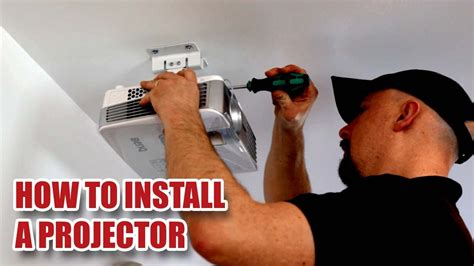 install  projector   ceiling   screen