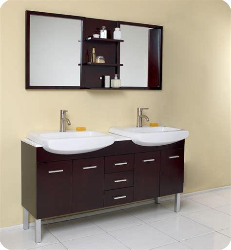 double sink mirrored bathroom vanity fresca 59 quot espresso modern double sink bathroom vanity