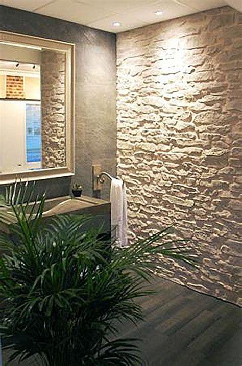 Wandgestaltung Mit Stein by 14 Besten Badezimmer Mit Steinwand Bilder Auf
