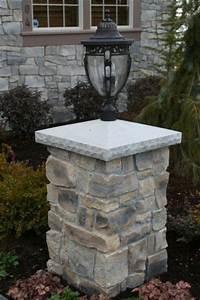 stone pillars stone pillars pinterest lighting With outdoor lights for driveway columns