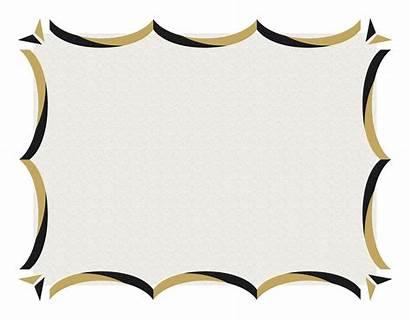 Border Gold Certificate Borders Clipart Template Frame