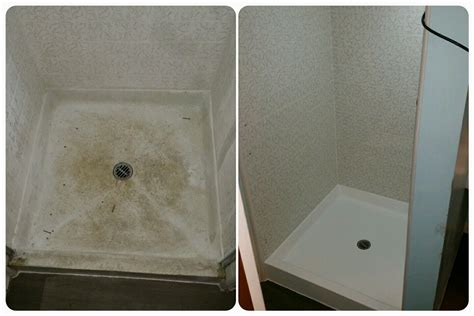 dont replace  worn  fiberglass shower pan reglaze
