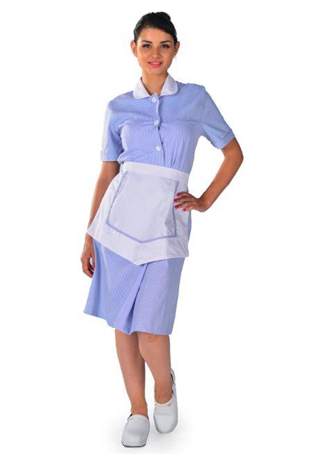 blouse femme de chambre 224 manches courtes bleu ciel carlton