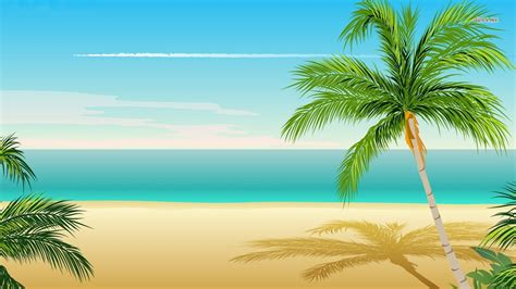 Moon And Clouds Wallpaper Palm Tree Wallpaper Vector Wallpapers 7444
