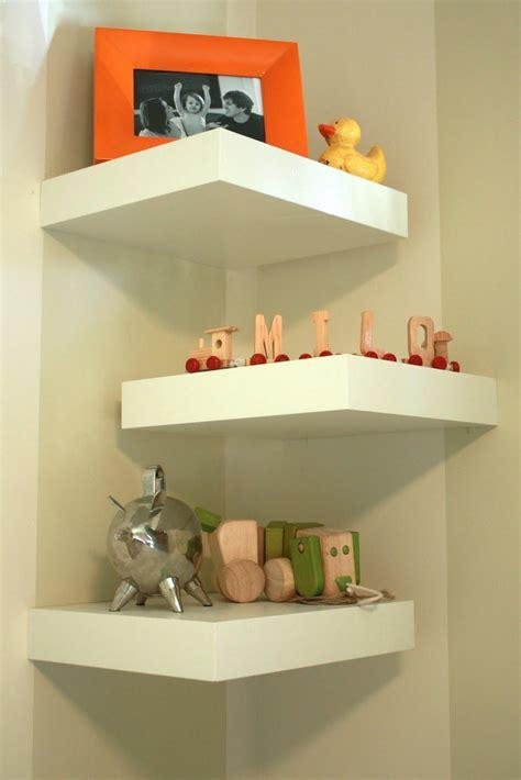 White Corner Wall Shelves Best Decor Things