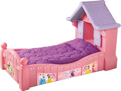 Charming Purple Mattress Over Pink Princess Bed For
