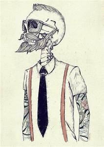 Hipster tattoos skull girl wallpaper cute kawaii ...