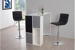 Table De Bar Blanche : table de bar en imitation bois blanche shisho table de bar pas cher ~ Voncanada.com Idées de Décoration