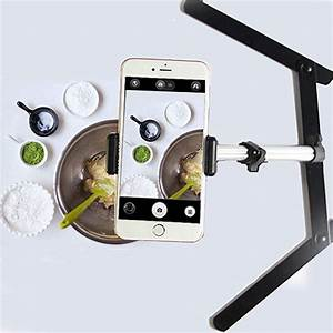 Amazon.com : Evanto Camera Table Top Monopod Stand Tripod Support Rig with Overhead Phone Mount ...