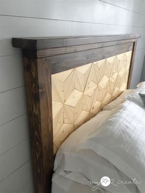 ana white farmhouse storage bed  geometric pattern