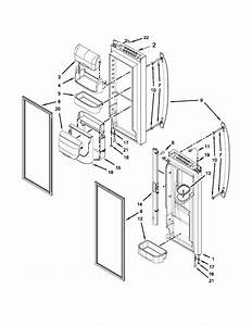 Refrigerator Door Parts Diagram  U0026 Parts List For Model Mfi2269vem10 Maytag