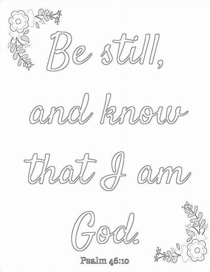 Coloring Pages Printable Psalm 46 Wise Words
