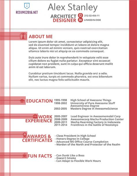 Creative Resume Exles 2016 by Resume Templates 2016 Archives Resume 2016
