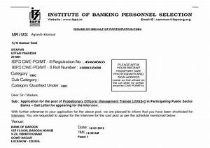 download ibps exam and common interview call letter With interview call letter template