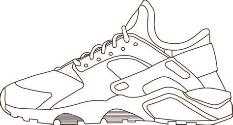 trainer outline shoe template templates tool design