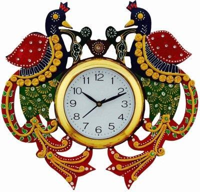 Buy designer, handpainted wall clocks online in india from exclusivelane. DivineCrafts Analog Wall Clock(Multicolor, With Glass ...