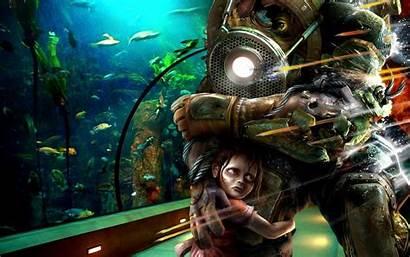 Bioshock Daddy Wallpapers Games Desktop 4k Background