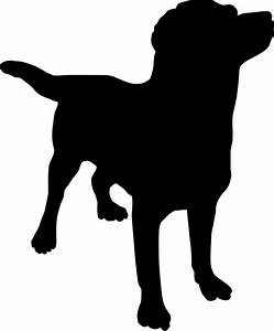 Dog silhouette Free Vector / 4Vector