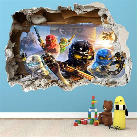 Lego Bedroom Wall Decals by Lego Ninjago Smashed Wall Sticker 3d Bedroom Boys