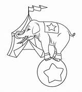 Elephant Coloring Pages Circus Playing Printable Sheets Momjunction Standing Ball sketch template