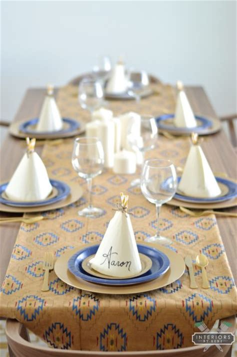 diy teepee napkin place setting   thrifty