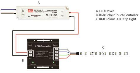 How Wire Rgb Colour Led Strip Light Diagram